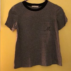 Urban Outfitters cute initial tee